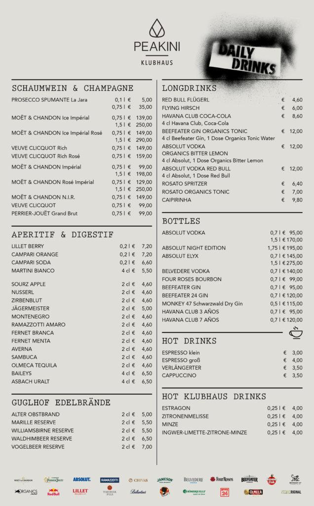 PEA KLUBHAUS Getraenkekarte 2019 636x1024 - Daily Drinks